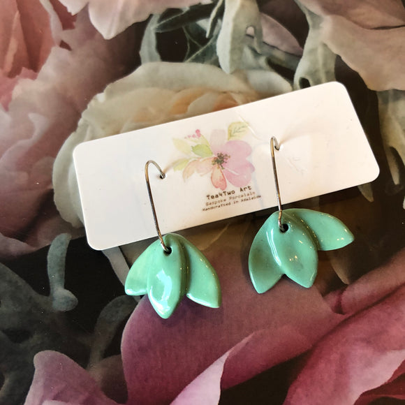 Porcelain Flower Drop earrings