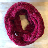 Knit Scarf - Red/Silver