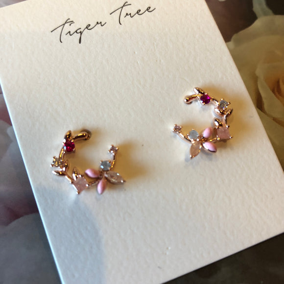 Pretty in Pink Crystal Stud earrings