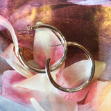 Two Tone Hoop Silver/Rose Gold earrings