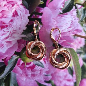 In A Twist Circle earrings