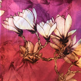 Flower Print Scarf - Pink/Purple/Orange