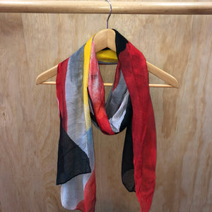 Abstract Art Scarf - Black