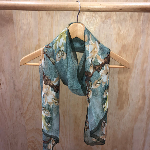 Full Bloom Scarf - Green