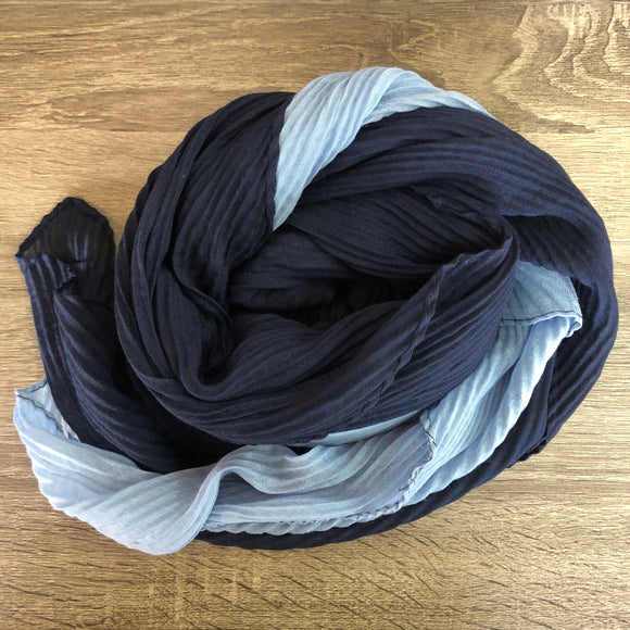 SALE! Two Tone Scarf - Denim Blue/Navy