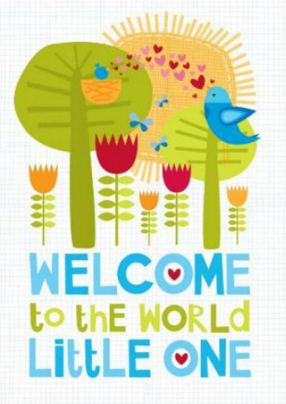 Welcome Little One Baby Boy Card