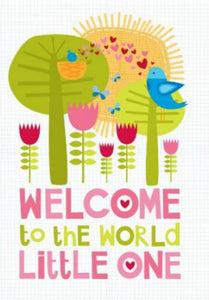 Welcome Little One Baby Girl Card