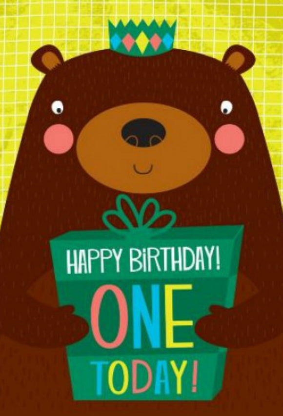 First Birthday Bear Card
