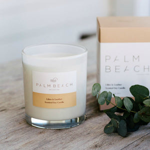 Palm Beach Lillies and Leather Candle