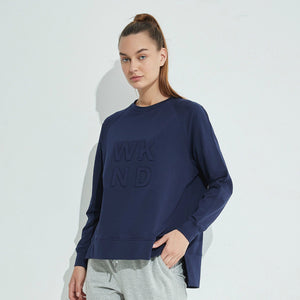 Embossed WKND Sweat - Midnight Blue