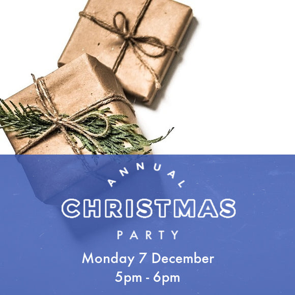 Christmas Party - Thursday 3 Dec - 5pm to 6pm