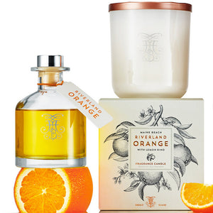 Maine Beach Riverland Orange Candle