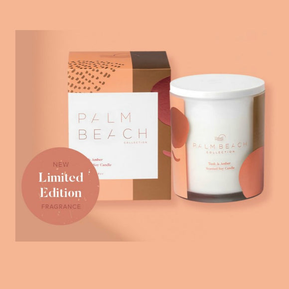 Palm Beach Teak and Amber Limited Edition Candle