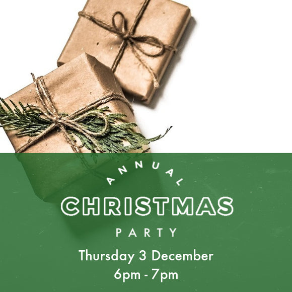 Christmas Party - Thursday 3 Dec - 6pm to 7pm