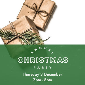 Christmas Party - Thursday 3 Dec - 7pm to 8pm