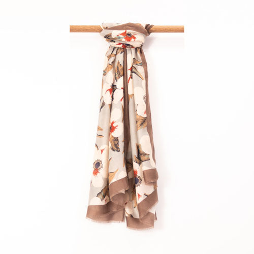 Flower Power Scarf - Beige