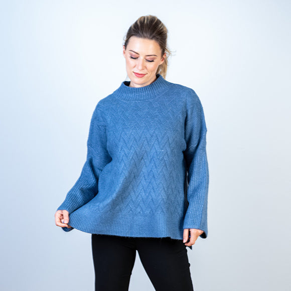 SALE! Zig Zag Patterned Knit