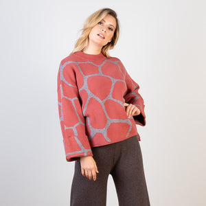 Abstract Printed Pattern Knit