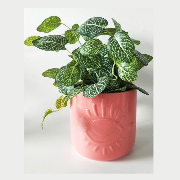 Eye On You Planter Pink 14cm