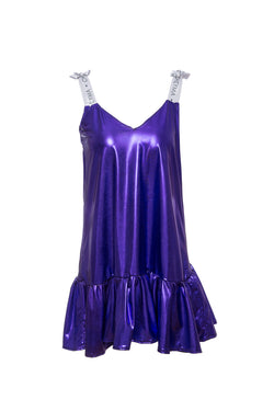 Metallic Satin Dress Cheyma