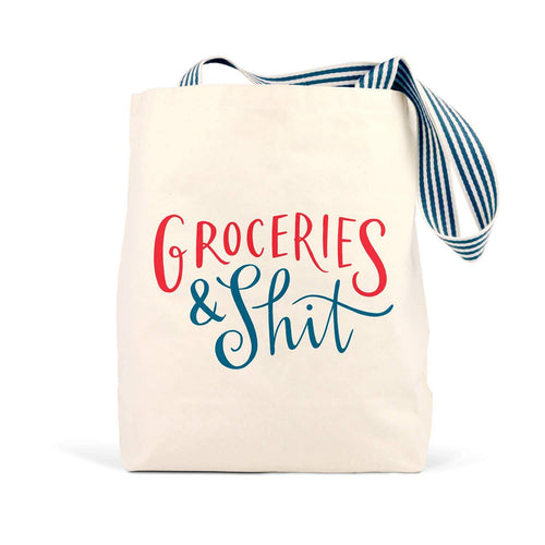 Groceries & Shit Tote Bag by Emily McDowell & Friends - COMMON DEAR