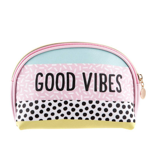 Memphis Modern Good Vibes Cosmetic Bag - Common Dear