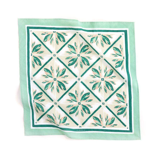 Highland Tile Premium Cotton Handmade Bandana by One Canoe Two Paper Co. - COMMON DEAR