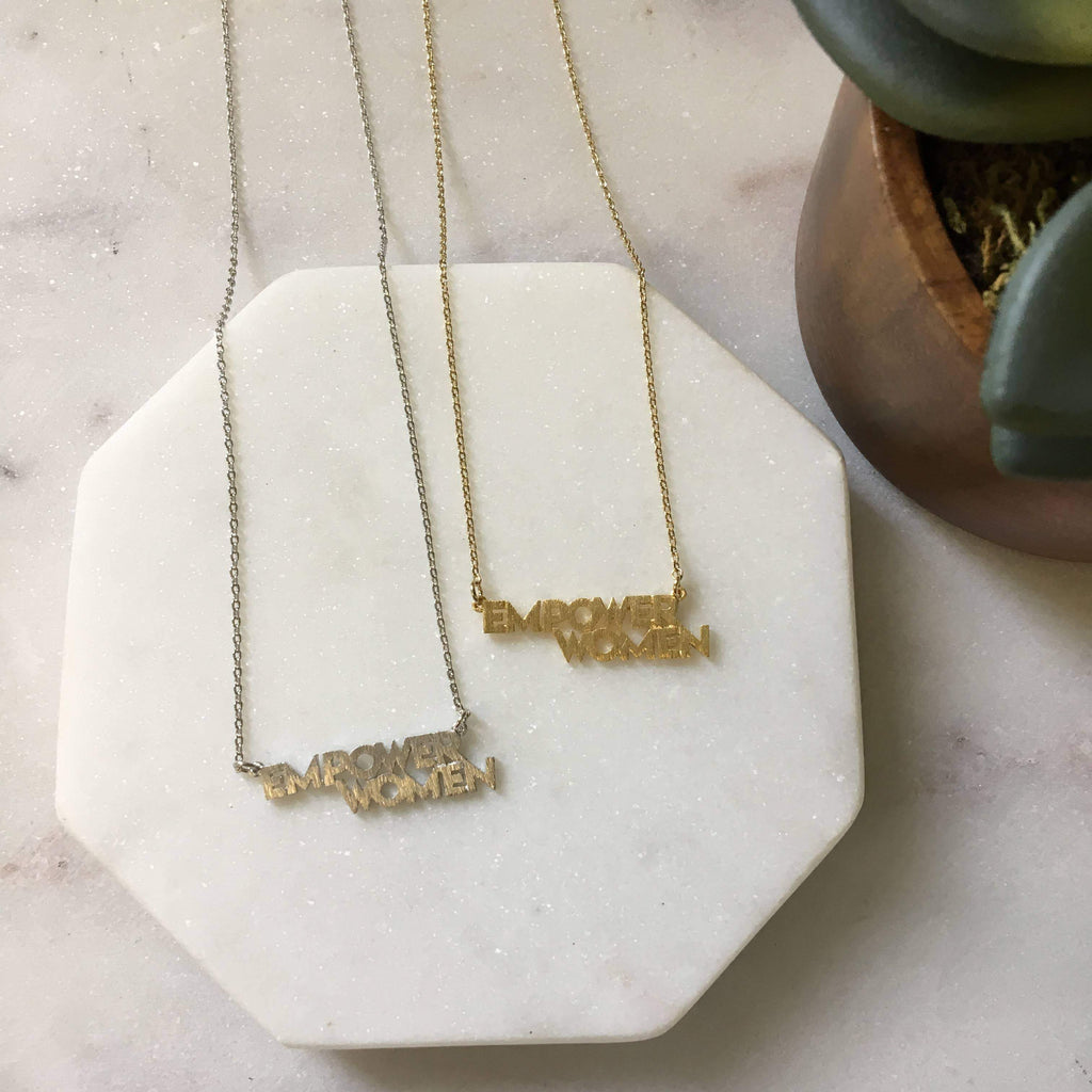 Empower Women Gold Necklace by Pretty Simple - COMMON DEAR