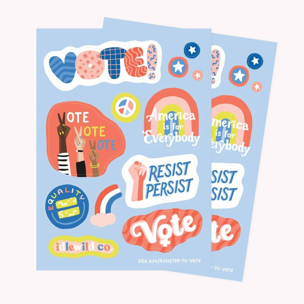 Vote Sticker Sheets by Idlewild - COMMON DEAR