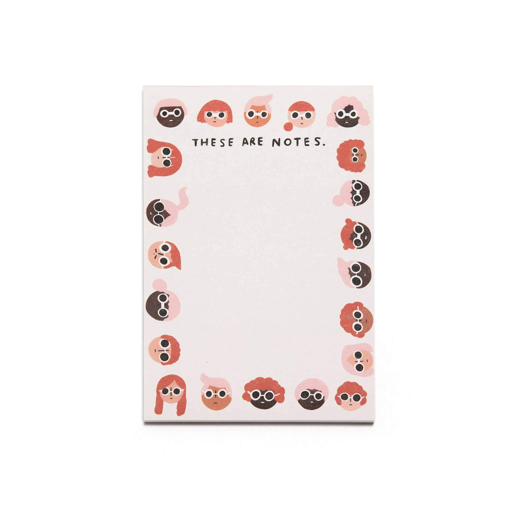 Faces Notepad by Carolyn Suzuki - COMMON DEAR