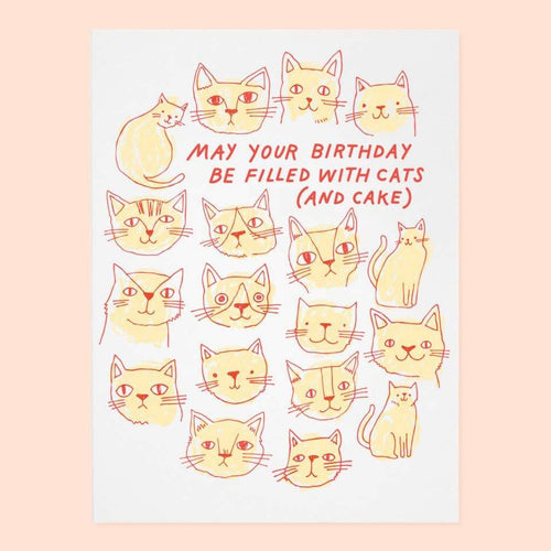 Cats And Cake Birthday Greeting Card by The Good Twin - COMMON DEAR