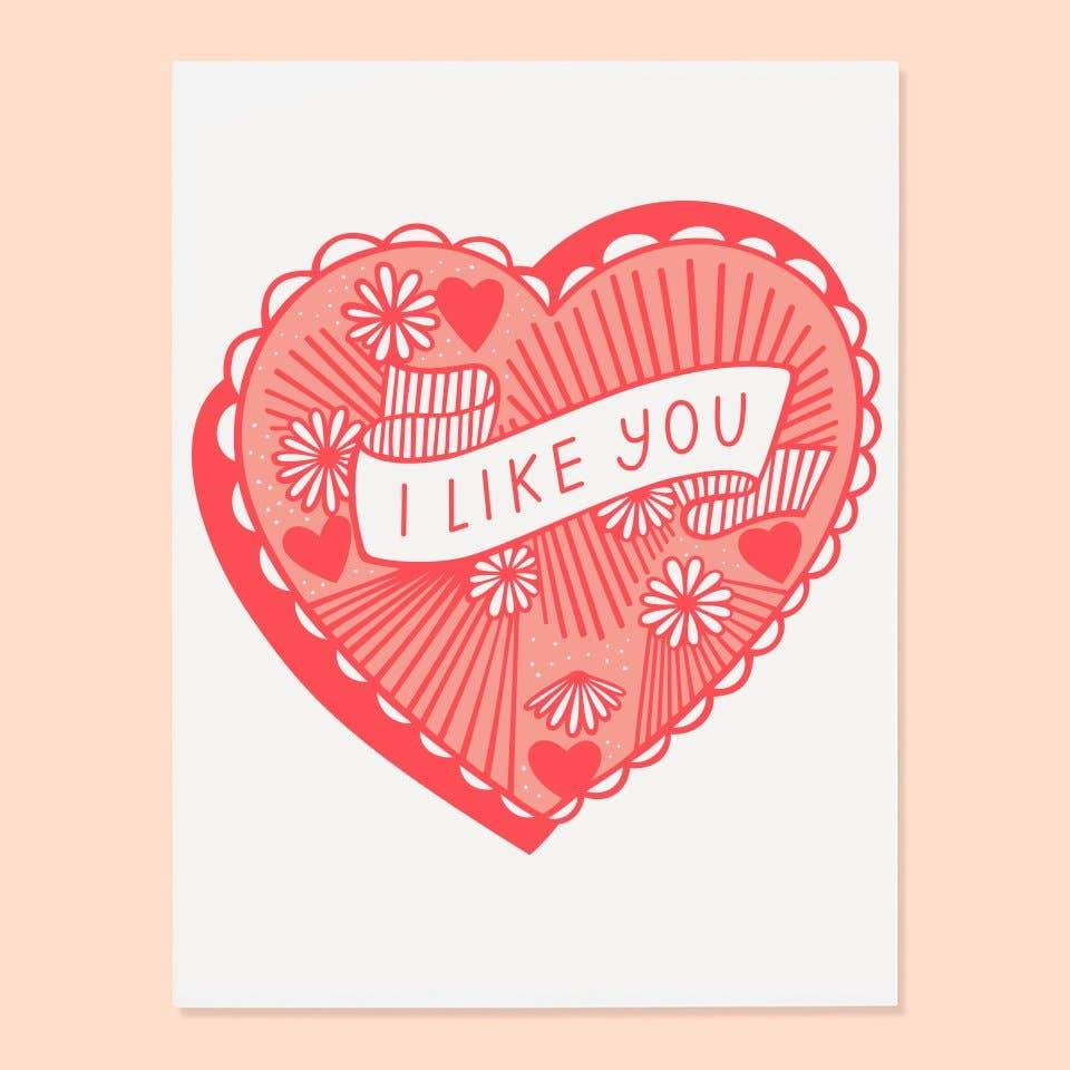 I Like You Greeting Card by The Good Twin - COMMON DEAR