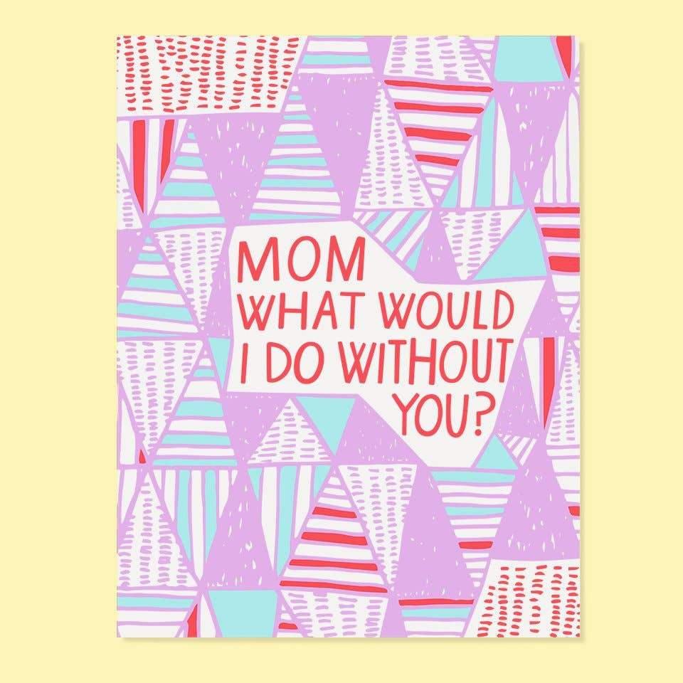 Quilted Mom Greeting Card - Common Dear
