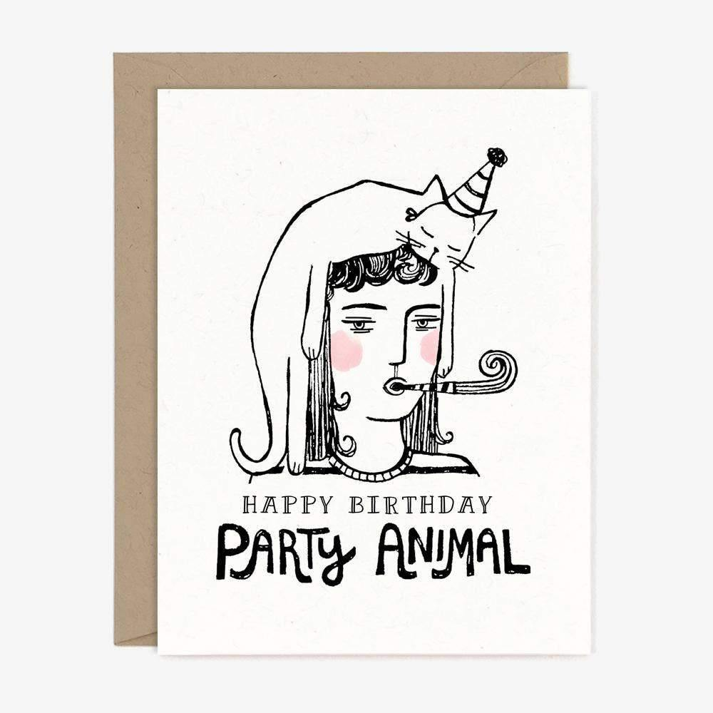 Party Animal Birthday Greeting Card by Paper Pony Co. - COMMON DEAR