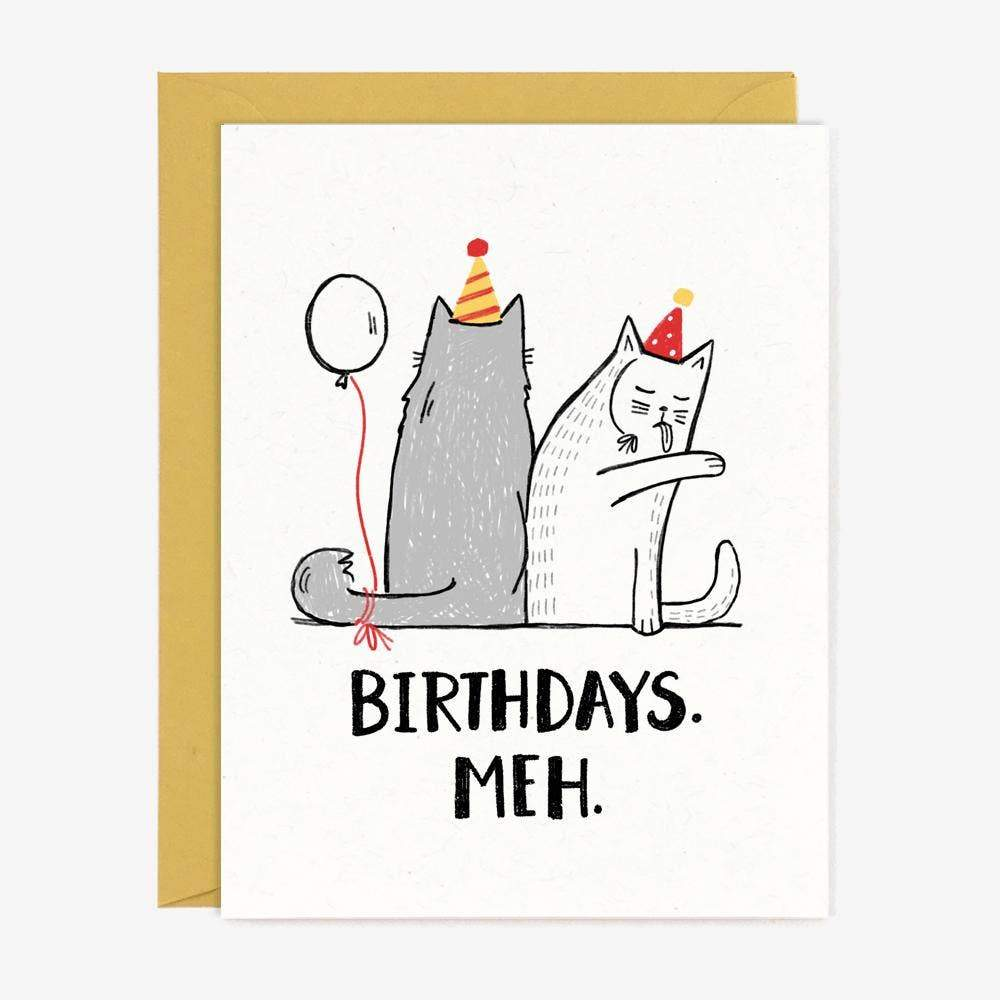 Birthdays Meh Greeting Card by Paper Pony Co. - COMMON DEAR