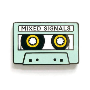 Mixed Signals Enamel Pin by Smarty Pants Paper - COMMON DEAR