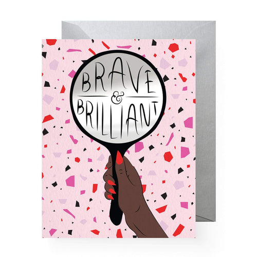 Brave & Brilliant Sticker Greeting Card - Common Dear