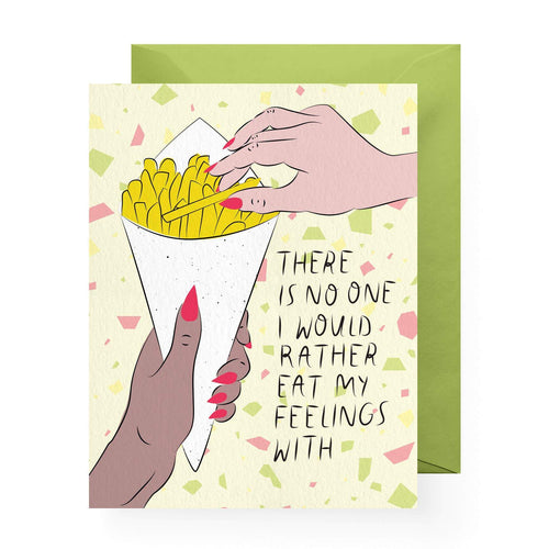 Emotional Eating Greeting Card by Boss Dotty Paper Co - COMMON DEAR