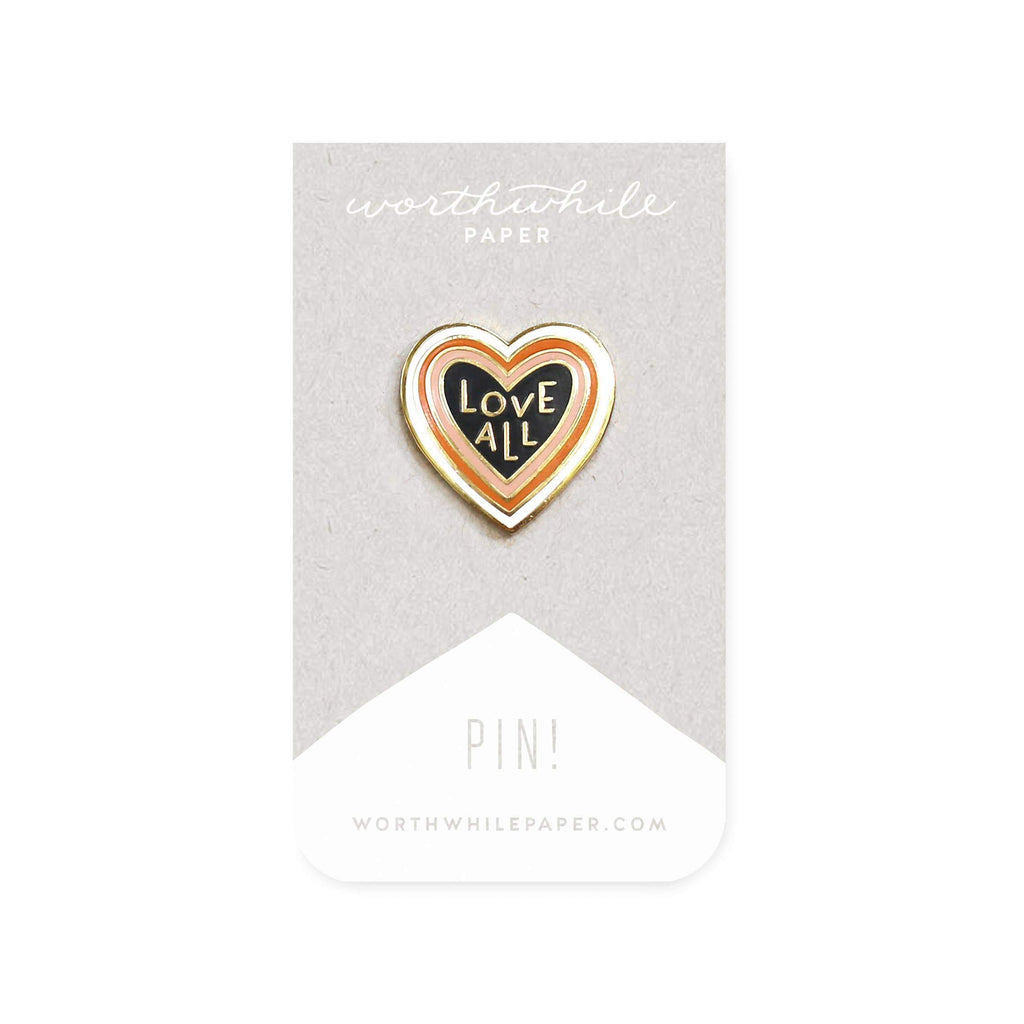 Love All Enamel Pin by Worthwhile Paper - COMMON DEAR