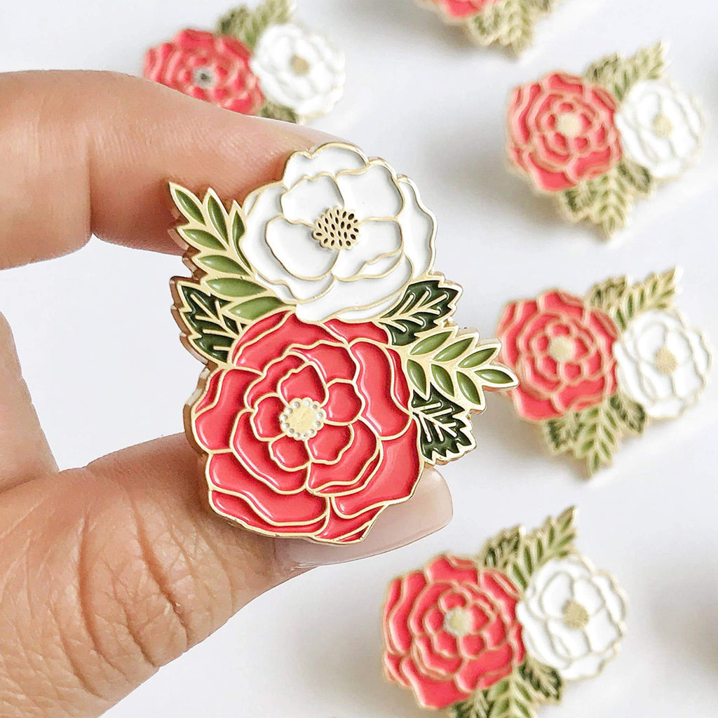 Irene Floral Cluster Enamel Pin by Paper Anchor Co. - COMMON DEAR
