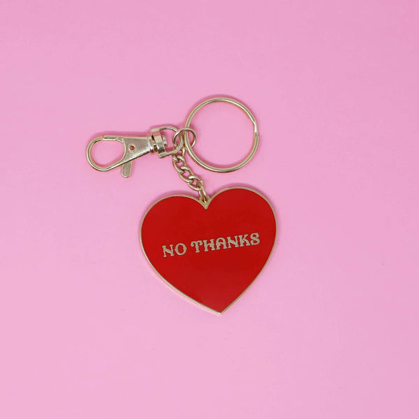 No Thanks Keychain by Made Au Gold - COMMON DEAR