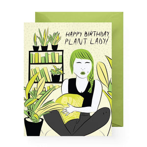 Plant Lady Birthday Greeting Card by Boss Dotty Paper Co - COMMON DEAR