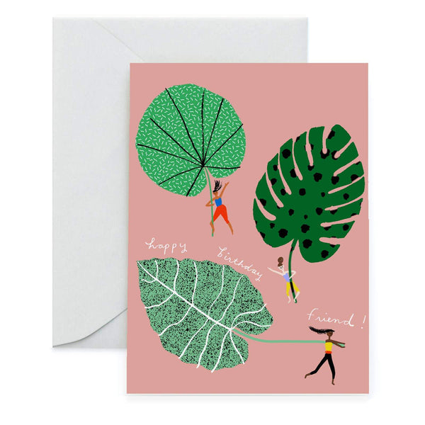 Leaf Riders Greeting Card by Carolyn Suzuki - COMMON DEAR