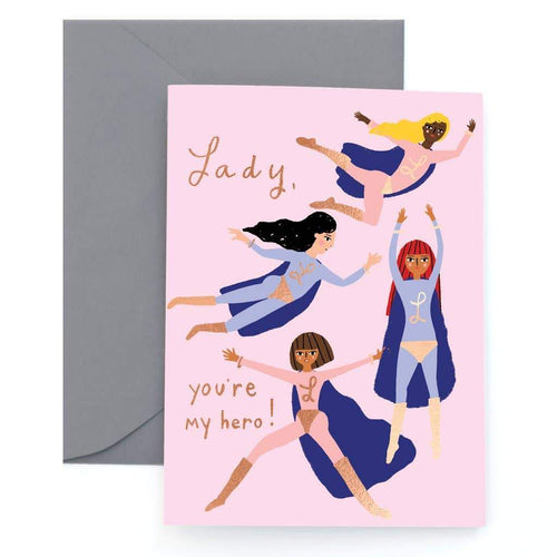 Superheroes Foil Greeting Card by Carolyn Suzuki - COMMON DEAR