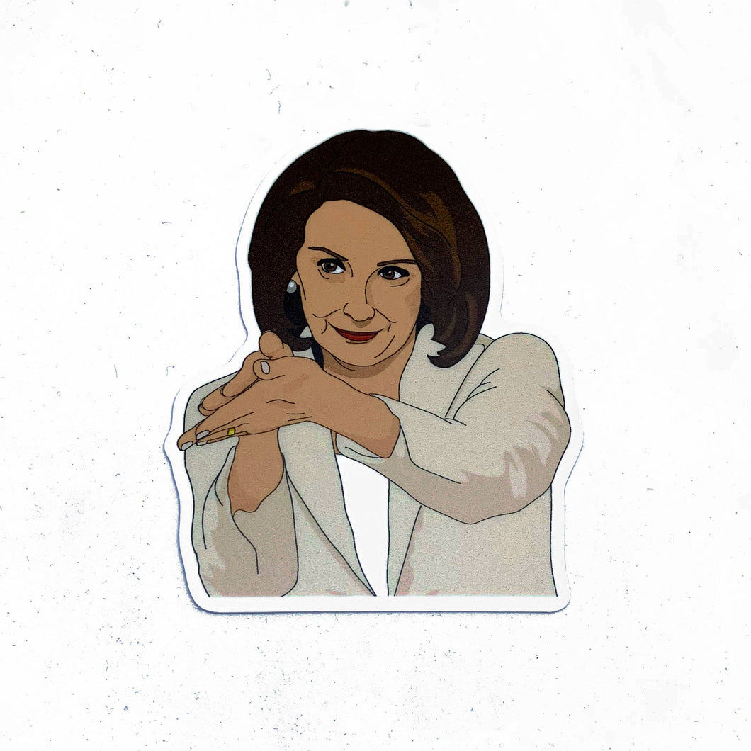 Nancy Pelosi Clap Back Sticker-Stickers-Citizen Ruth-COMMON DEAR