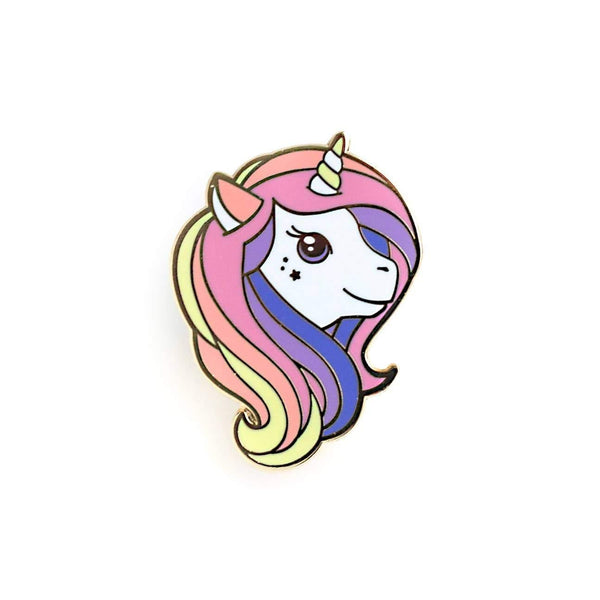 Rainbow Unicorn Enamel Pin by LuxCups Creative - COMMON DEAR