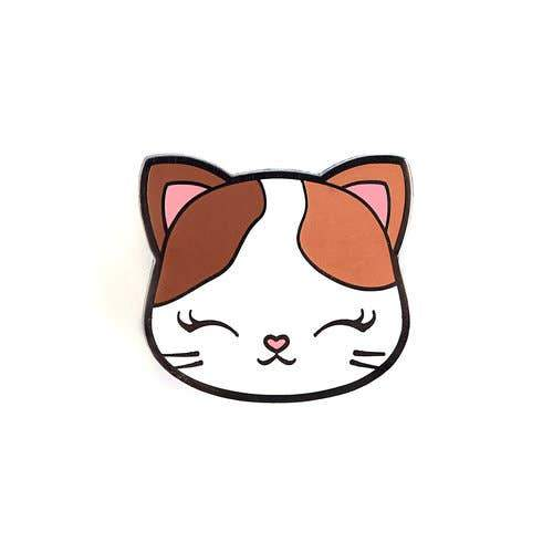 Kitty Face Enamel Pin by LuxCups Creative - COMMON DEAR
