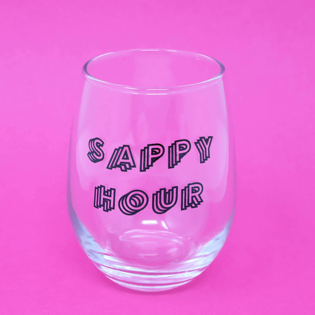 Sappy Hour Small Wine Glass by Made Au Gold - COMMON DEAR