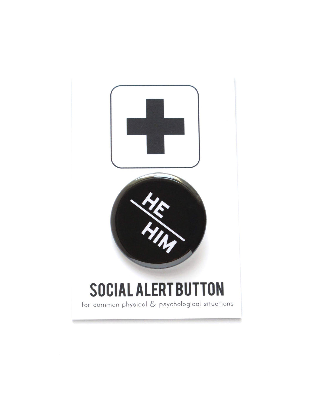He/Him Pronoun Button-Buttons-WORD FOR WORD-default-COMMON DEAR