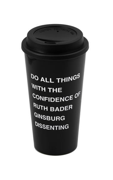 Do All Things with the Confidence of Ruth Bader Ginsburg Dissenting Travel Coffee Mug by GetBullish - COMMON DEAR